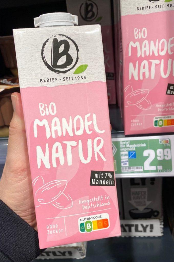 Berief Biomandelmilch Natur Nutri-Score