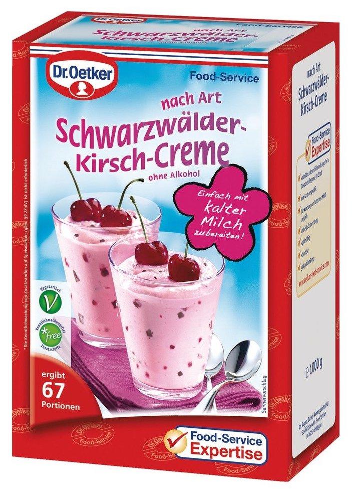 Dr. Oetker Schwarzwälder Kirsch-Creme Food Service Großpackung 1000G