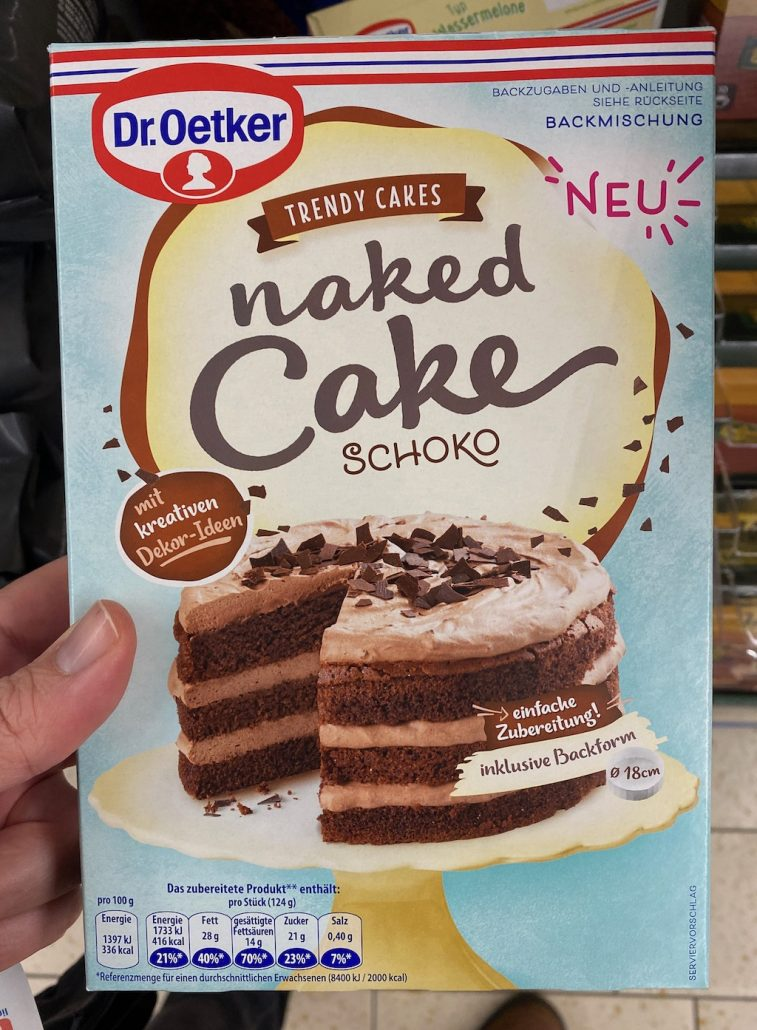 Dr. Oetker Trendy Cakes naked Cake Schoko Backmischung