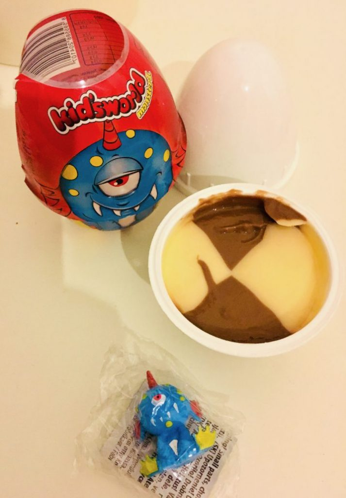 Kidsworld Surprise Pudding im Ei mit Spielzeug-Monster