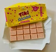 Weiße Tiki Schokolade Himbeer-Geschmack mit Brauseeffekt 100G