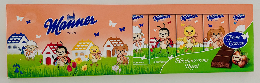 Manner Hasenusscreme Riegel Ostern 2021