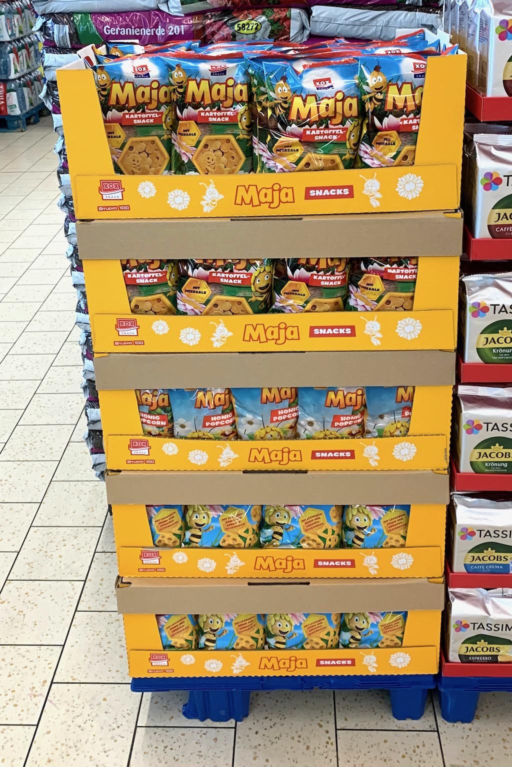 XOX Maja Kartoffelsnack und Popcorn