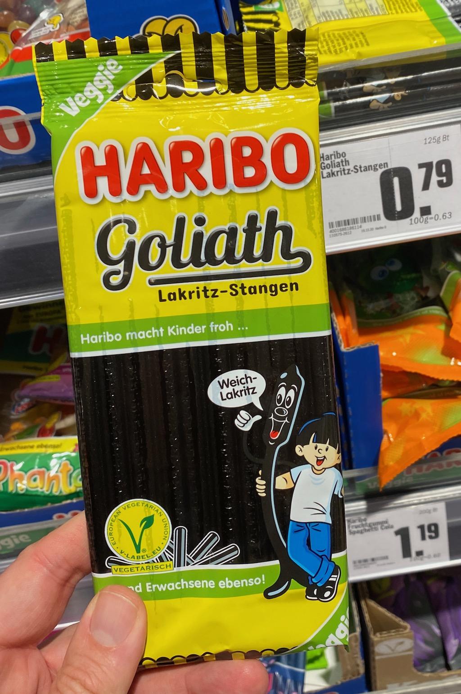 Haribo Goliath Lakrit-Stangen Weichlakritz Veggie