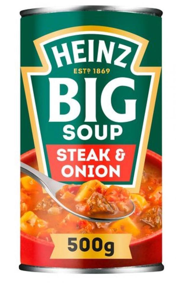 Heinz Big Soup Steak+Onion 500g