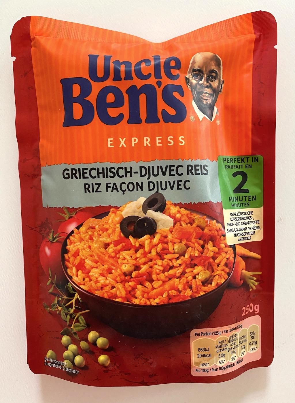 Mars Uncle Ben's Express Griechisch-Djuvec Reis
