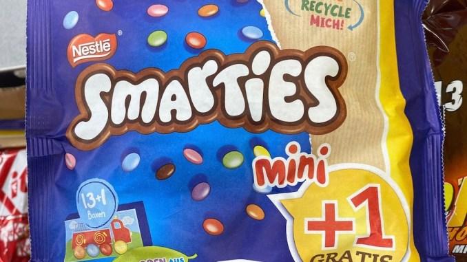 Nestlé Smarties Mini in Papierbeutel 14er