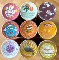 Pringles-Laschen bunt