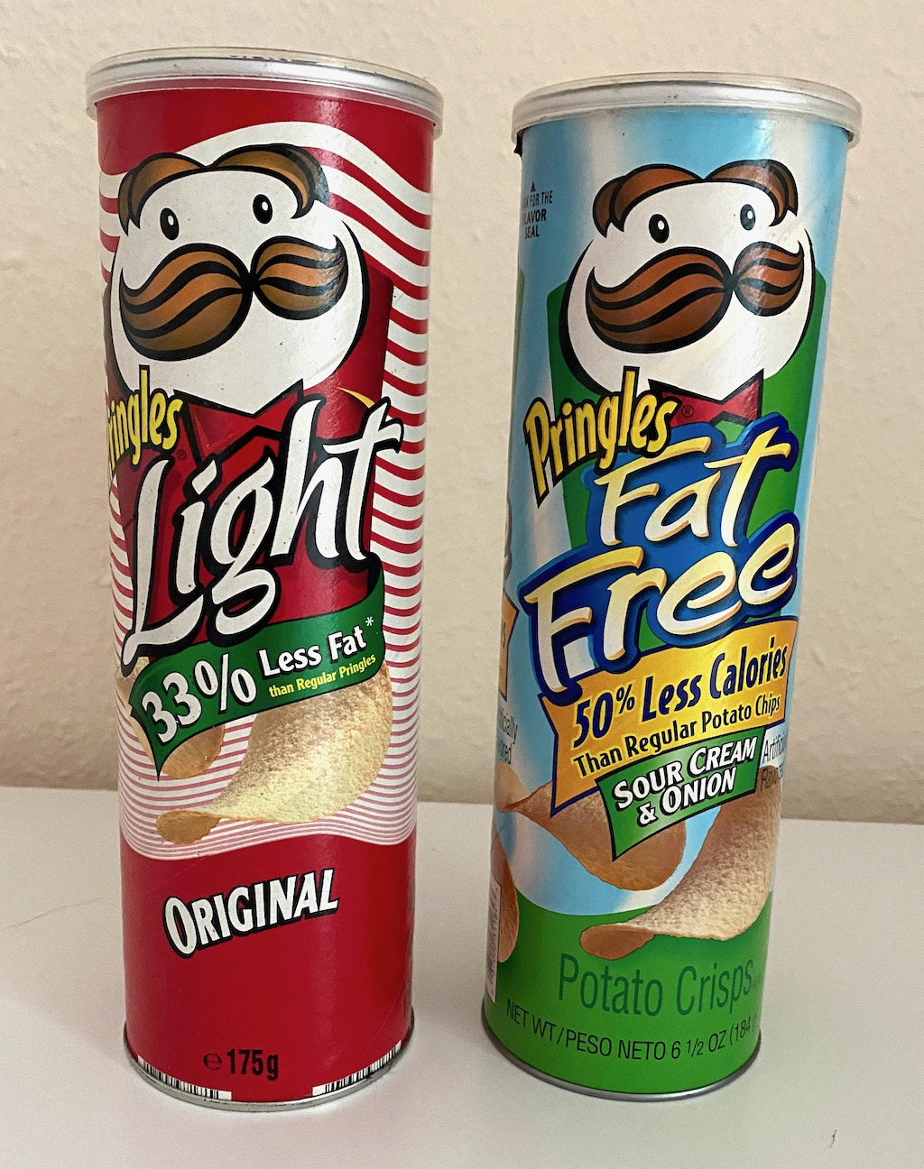 Pringles Original Light 33% Less Fat-Fat Free 50% Less Calories