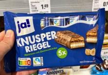 REWE Ja! Knusper Riegel 5er Nutri-Score Knoppers Riegel-Imitat