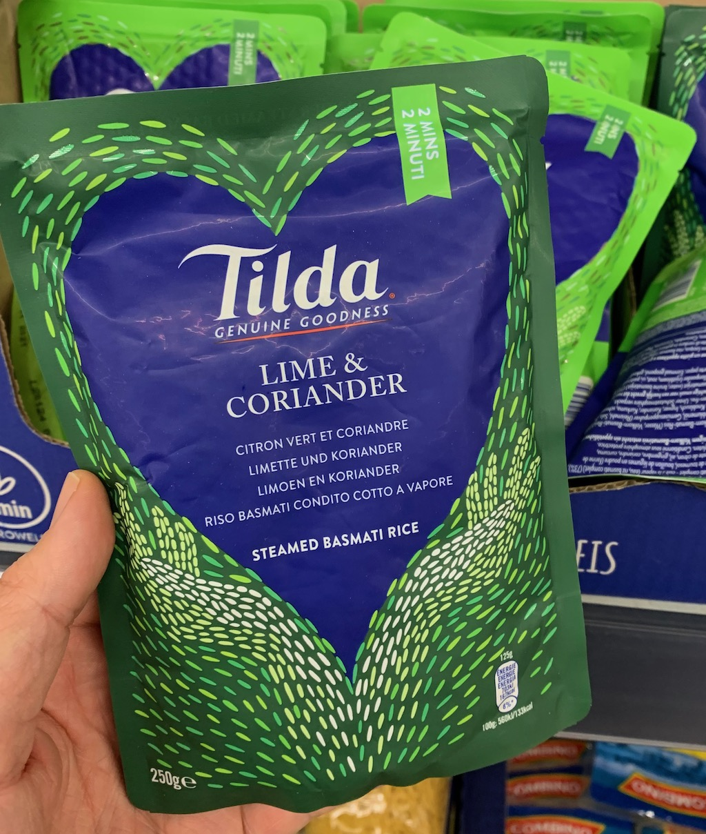 Tilda Steamed Basmati Rice mit Lime+Coriander 250G