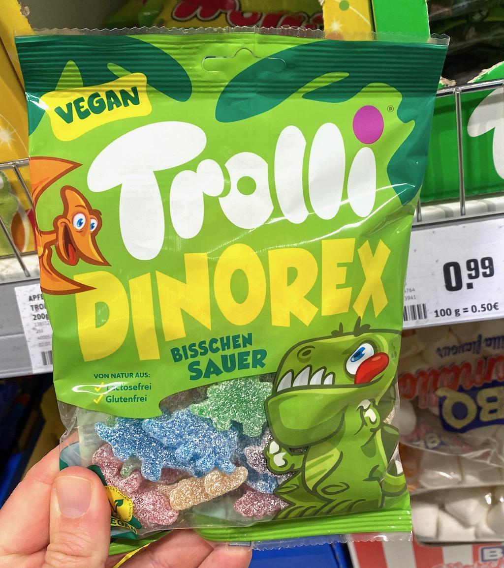 Trolli Dinorex Bisschen Sauer Vegan Dinosaurer-Motiv 200G
