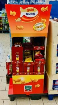 Funny-Frisch GoldFischli Display mit Haubenabdichung nach oben