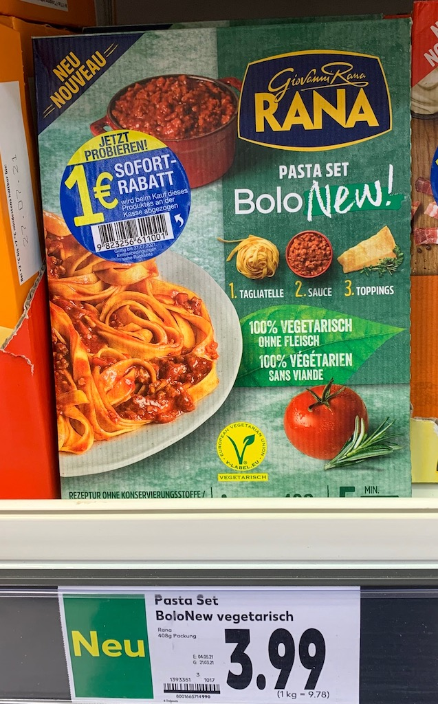 Giovanni Rana Pasta Set Bolo New Vegetarisch Sofort-Rabatt-Aufkleber