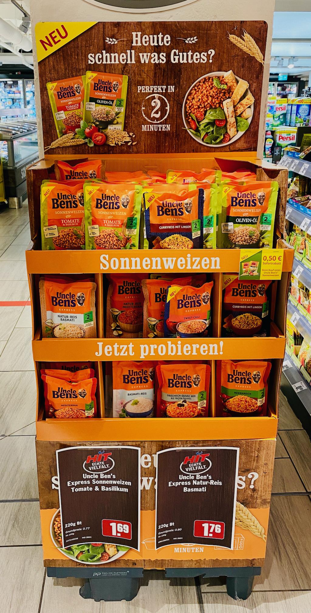 Mars Uncle Ben's Sonnenweizen Display