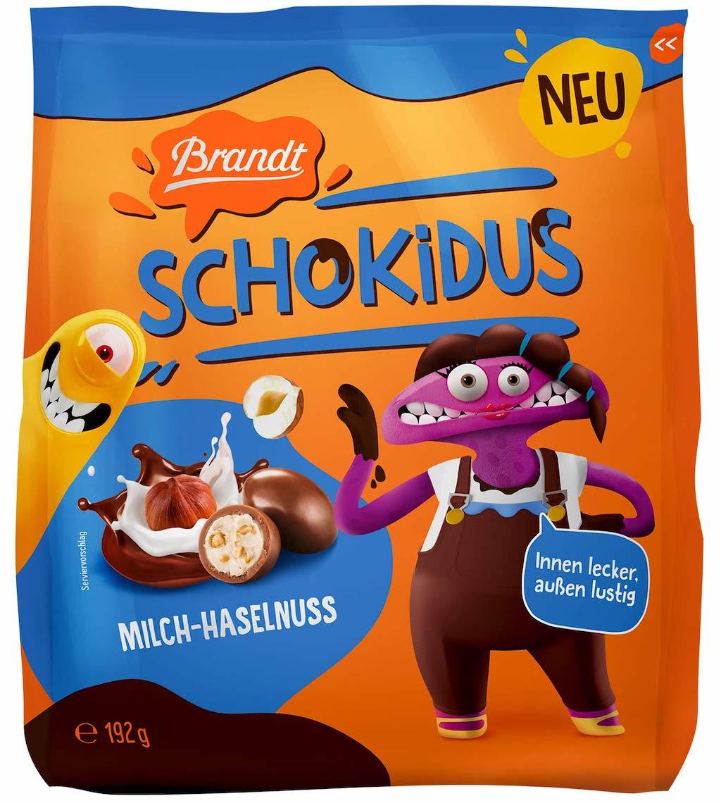 Brandt Schokidus Milch-Haselnuss 192g