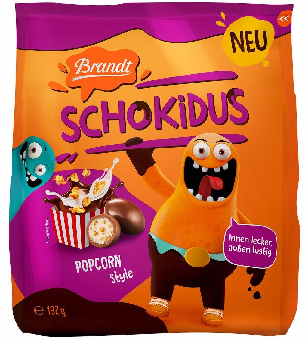 Brandt Schokidus Popcorn Style 192 Gramm