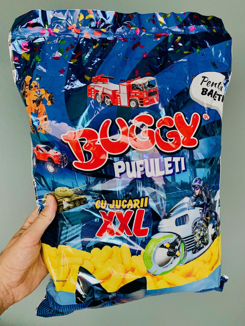 Buggy Pufuleti XXL Maiswürmer aus Rumänien mit Spielzeug