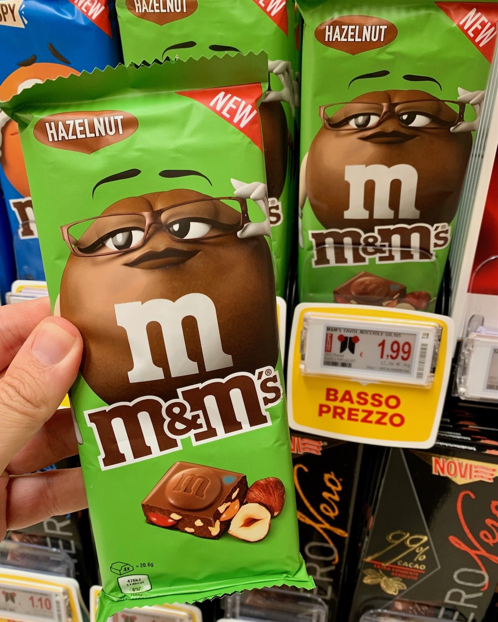 Mars M+M Schokolade Haselnuss Italien