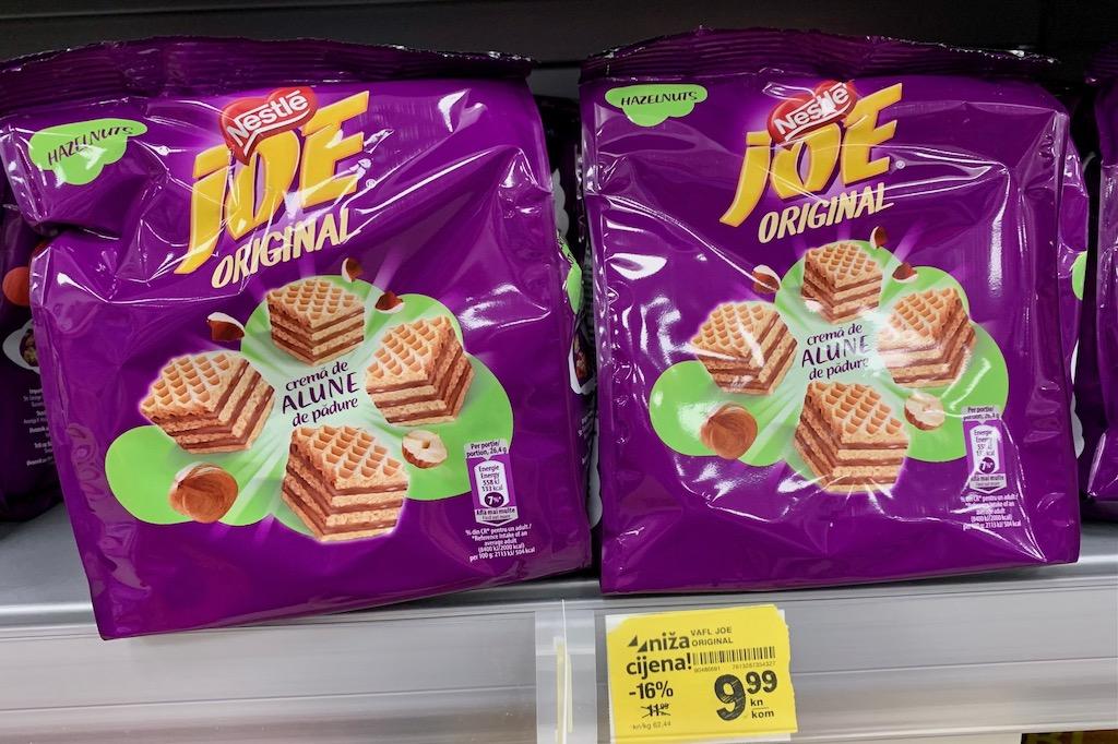 Nestlé Joe Original Waffelwürfel Haselnuss Kroatien