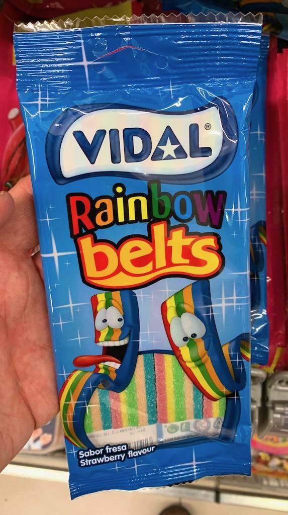 Vidal Rainbow Belts Regenbogen Erdbeergeschmack