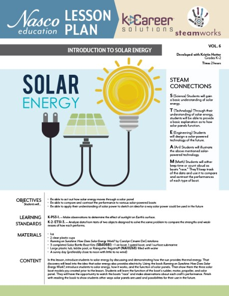 Download the free Solar Energy lesson plan now