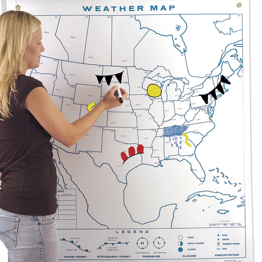 Reversible Weather Map