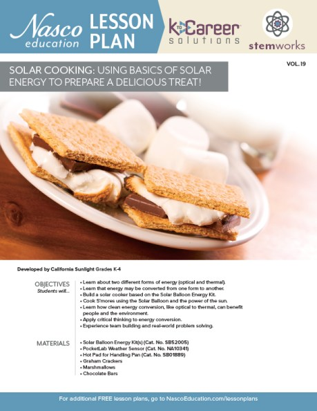 Solar Cooking: Using Basics of Solar Energy to Prepare a Delicious Treat lesson plan