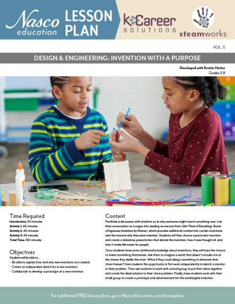 Design & Engineering: Invention with a Purpose Lesson Plan