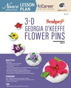 3-D Georgia O'Keeffe Flower Pins lesson plan