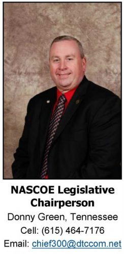 Donny Green, NASCOE Legislative Chair