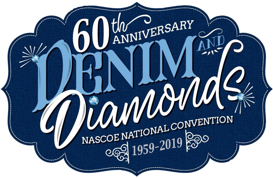 2019 NASCOE Convention Logo - Denim and Diamonds