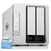 TerraMaster F2-220 2-Bay NAS Drive Enclosure Intel Dual Core 2.41GHz 2GB RAM PLEX DLNA Media Server RAID 5 Storage Enclosure HDD and SSD