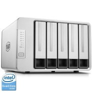 TerraMaster F5-420 NAS Server 5-Bay Intel Quad Core 2.0GHz 2GB RAM Network RAID 5 Storage Enclosure HDD and SSD