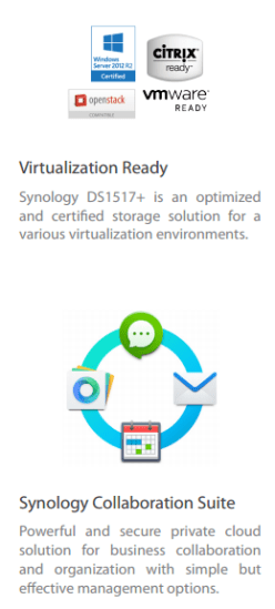 DS1517+ SYNOLOGY 8-BAY vmware and virtualisation 2017 NAS