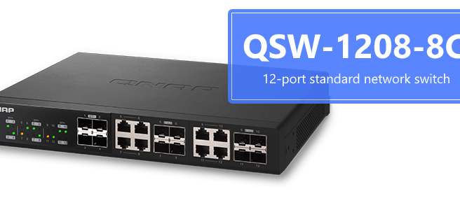 The Brand New QNAP QSW-1208-8C 10GBe Switch 12x SFP+ and 8x RJ45