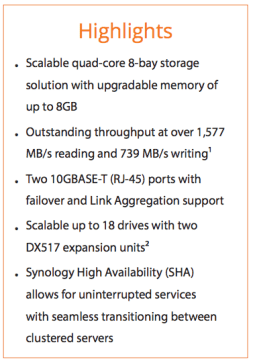 Full Specs of the Synology DS1817
