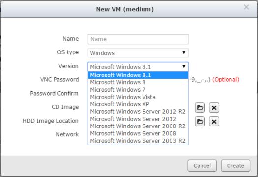 QNAP NAS VM Create 3