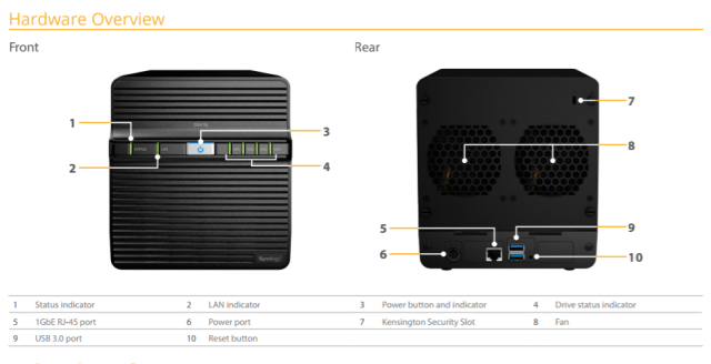 The Synology DS418J 4-Bay Cost effective Desktop NAS 4
