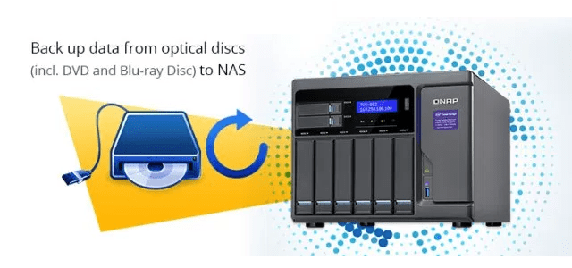 Back up your QNAP NAS to Compatible Optical Disc Drive - NAS