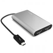 StarTech Thunderbolt 3 Adapter TB32DP2 Thunderbolt3 (USB-C) to Dual DisplayPort Adapter - 4K 60Hz