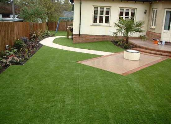 تزيين الاحواش بالعشب الصناعى