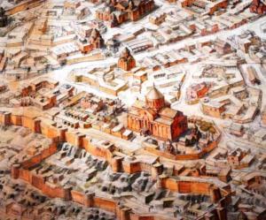 Фрагмент реконструкции города Ани