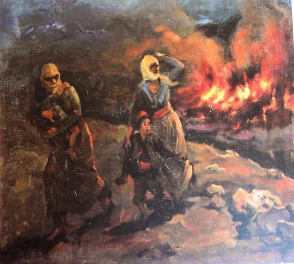 Амаяк Арцатбанян. Пожар в армянской деревне