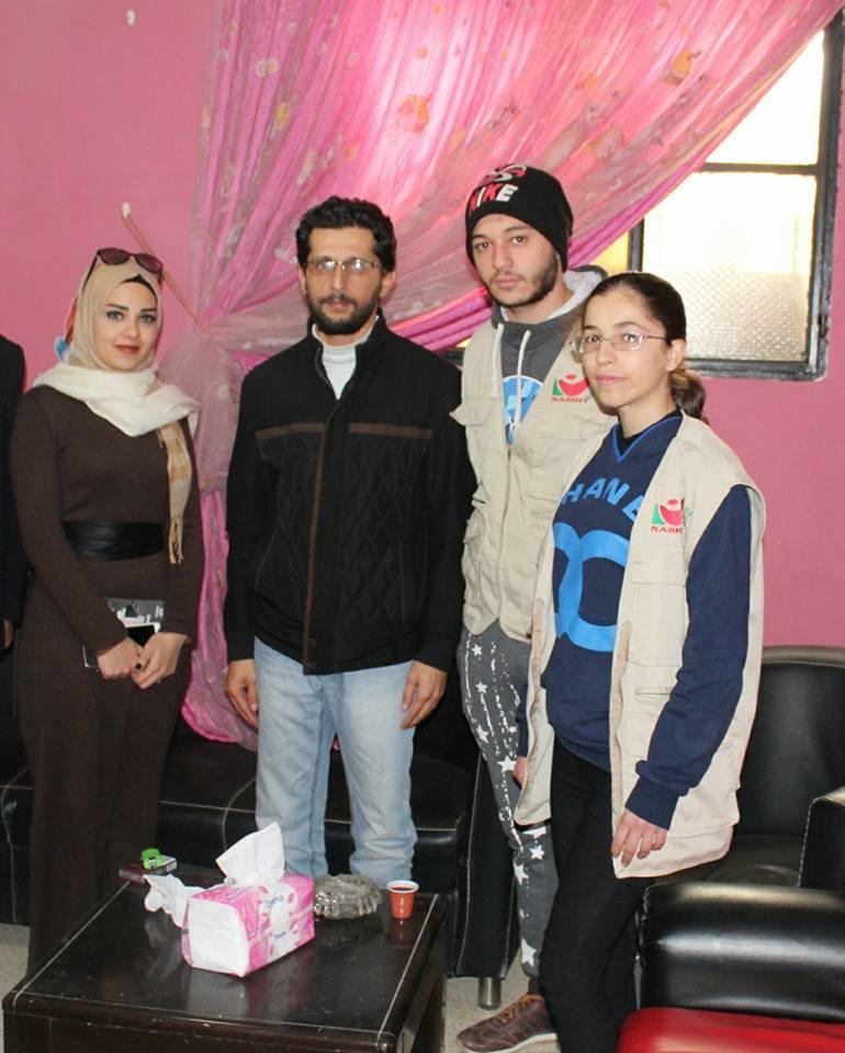 فريق شعلة ناشط يزور محمود عطايا