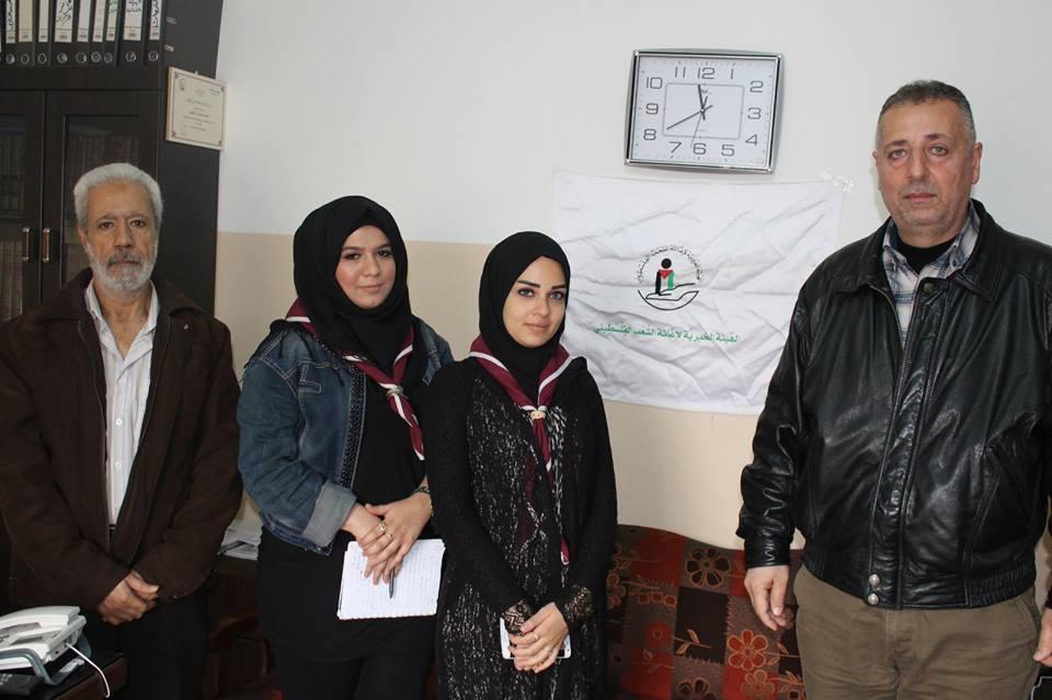 كشافة  ناشط تلتقي الهيئة الخيرية لاغاثة الشعب الفلسطيني
