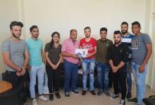 شعلة ناشط يكرم رئيس الهيئة الادارية لجمعية ناشط الدكتور ظافر الخطيب