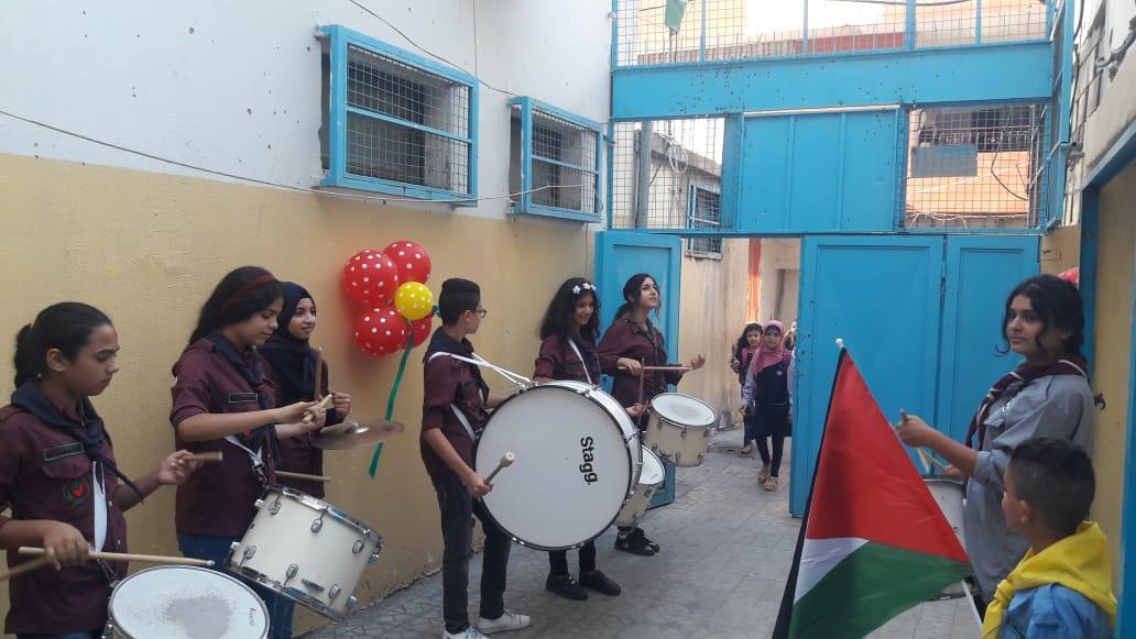 كشافة ناشط تستقبل العام الدراسي 2018 – 2019 في مدرسة مرج بن عامر