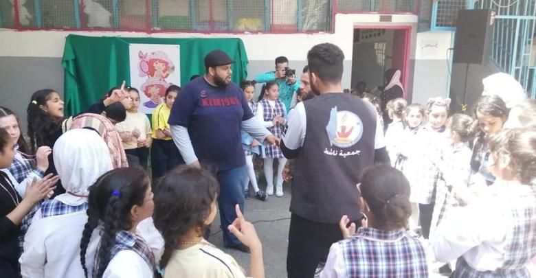 مدرسة نابلس تنظم يوما مفتوحا بالتعاون مع جمعية ناشط