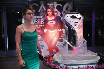 """""""Fight or Flight"""" -- Supergirl's powers are tested when Reactron, one of Superman's formidable enemies, arrives in National City and targets the young hero, on SUPERGIRL, Monday, Nov. 9 (8:00-9:00 PM, ET/PT) on the CBS Television Network. Pictured: Melissa Benoist Photo: Cliff Lipson/CBS ©2015 CBS Broadcasting, Inc. All Rights Reserved"""